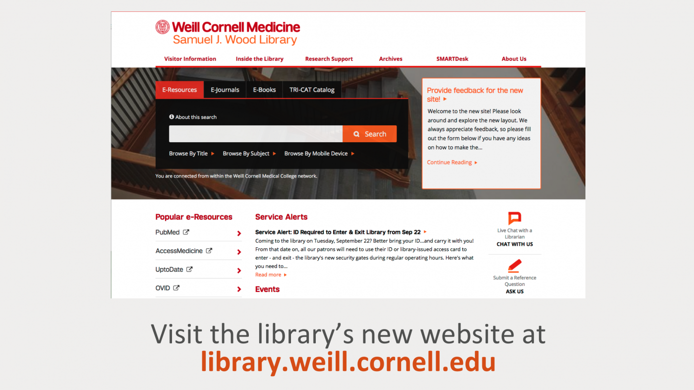 library's new website