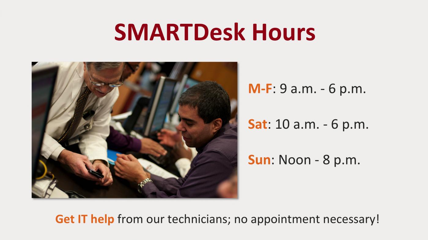 SMART desk hours