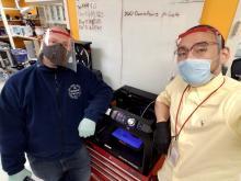 Dr. Shin and Peer Strogies at RU's Precision Intrumentation Technologies Lab