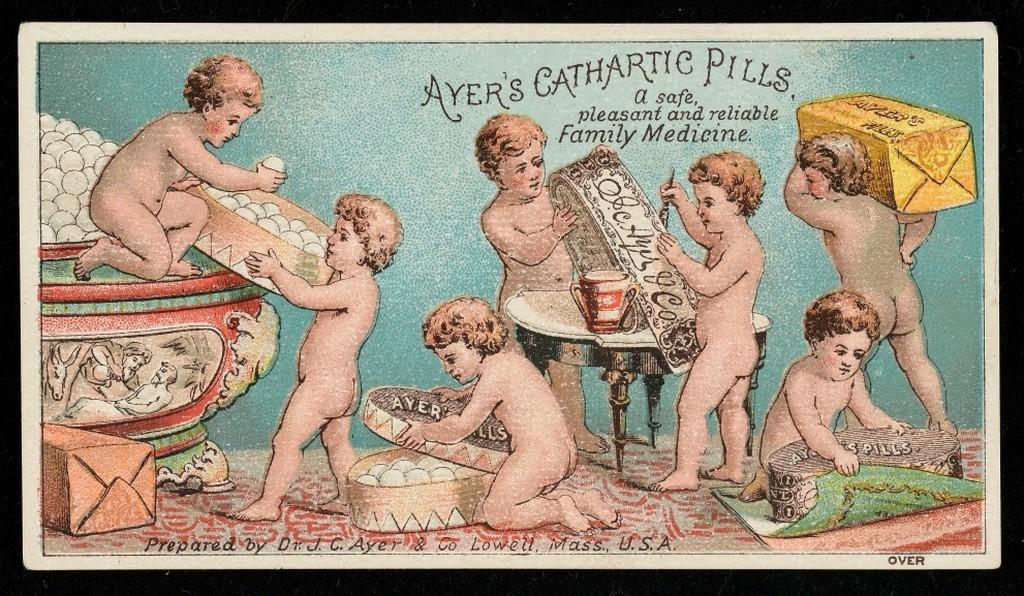 Ayer's Cathartic Pills Medical Trade Card