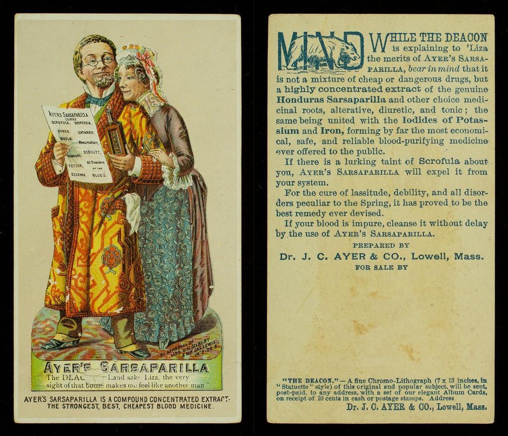 Ayer's Sarsaparilla Medical Trade Card