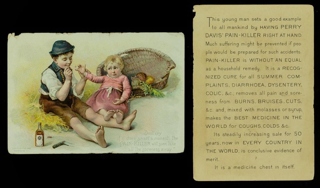 Perry Davis' Pain-Killer Medical Trade Card