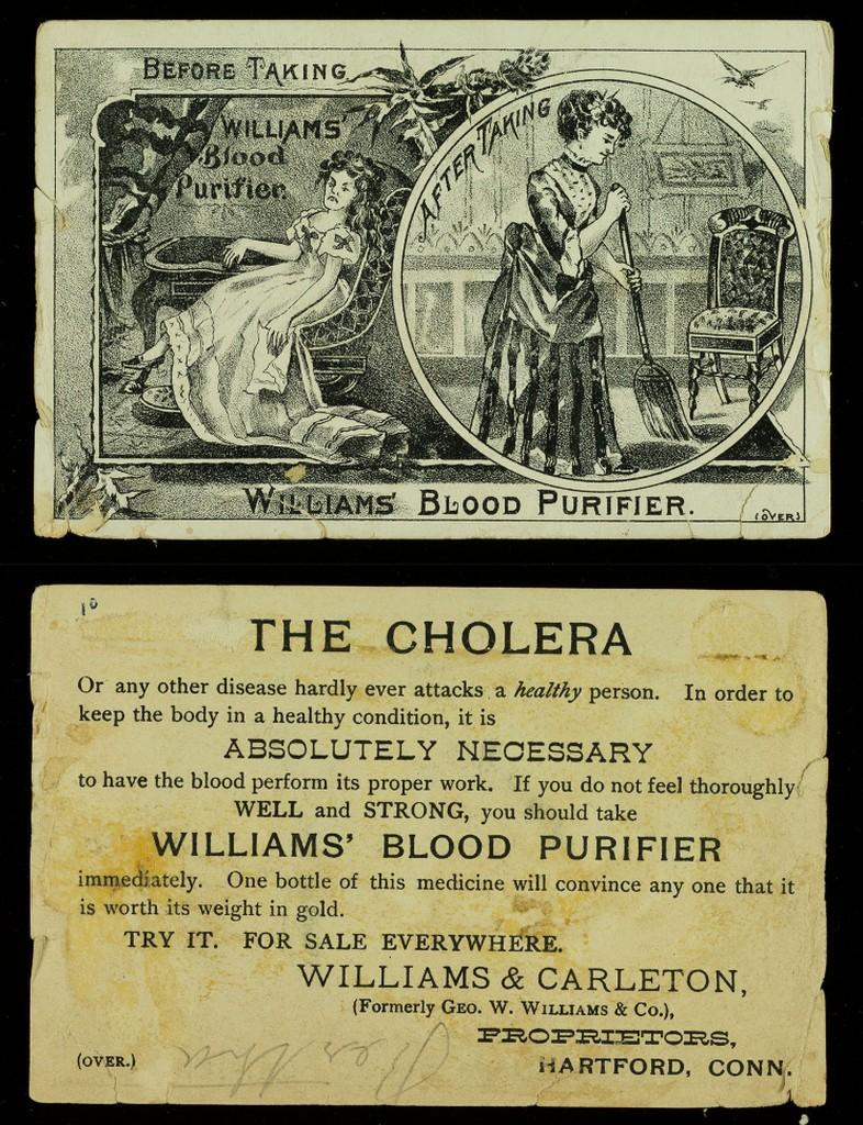Williams' Blood Purifier Medical Trade Card